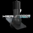Légáramlásnövelő szellőző<br>zsindely, pala, síkcserép fedéshez<br>Ø150mm