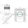 Tetőventilátor<br>zsindely, pala, síkcserép fedéshez<br>Ø110mm