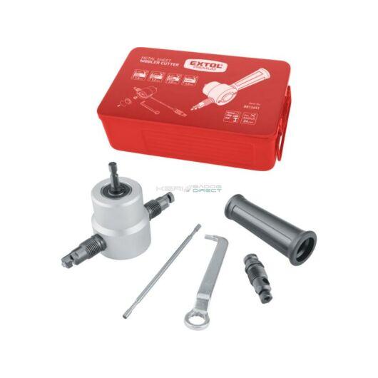 Extol Premium fúrógéppel hajtható mechanikus lemezvágó / nibbler
