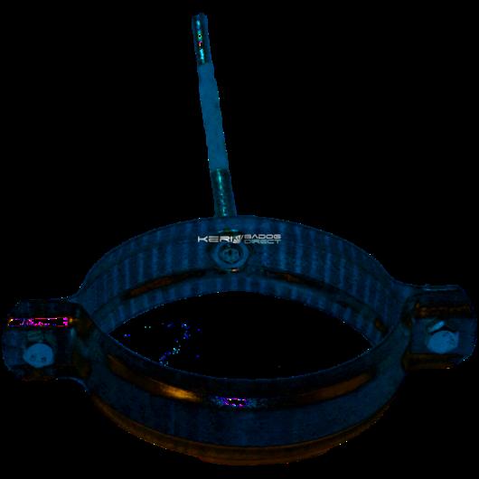 Horganyzott acél lefolyócsőbilincs 13,5cm-es szárral 100mm