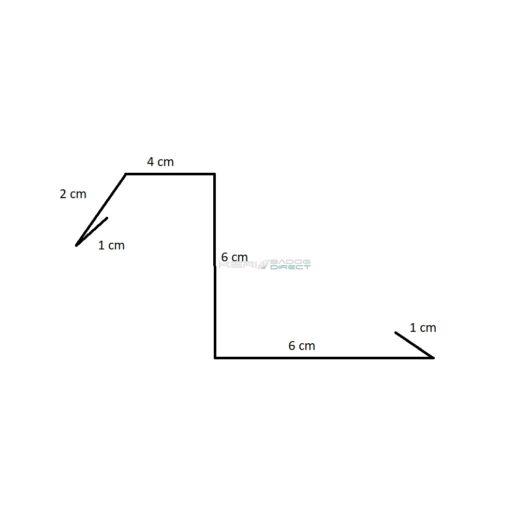 Színes acéllemez oromszegély 6 cm magas 2 m