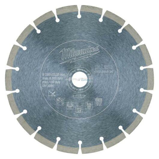 Milwaukee gyémánt vágótárcsa 230x22,23 mm szegmentált