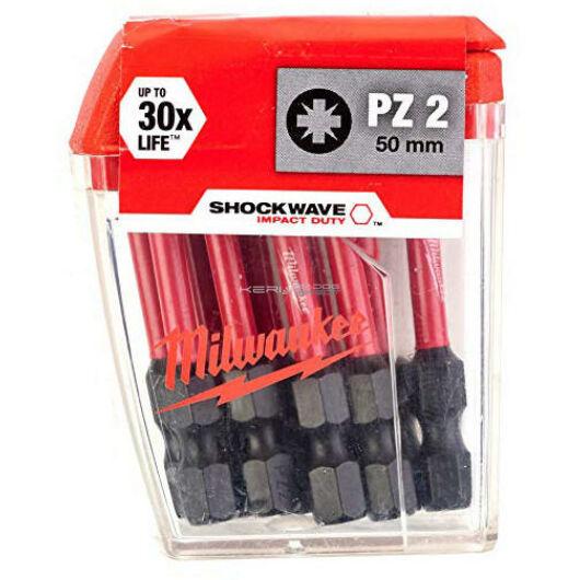 Milwaukee Bithegy PZ2 1/4col 50 mm DIN3126 (10db/csomag)