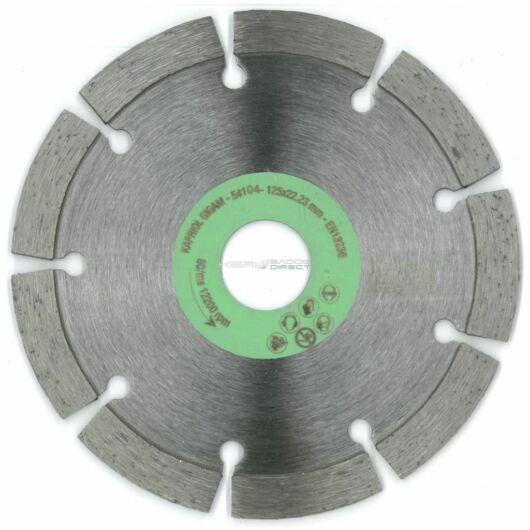 Kapriol gyémánt vágótárcsa 125x22,23 mm szegmentált
