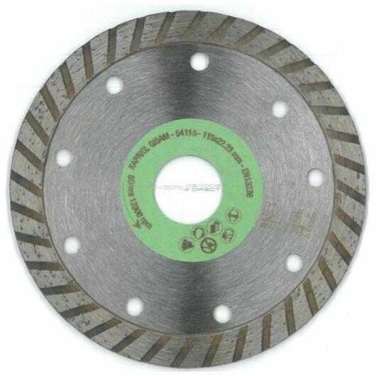 Kapriol gyémánt vágótárcsa 115x22,23 mm turbó