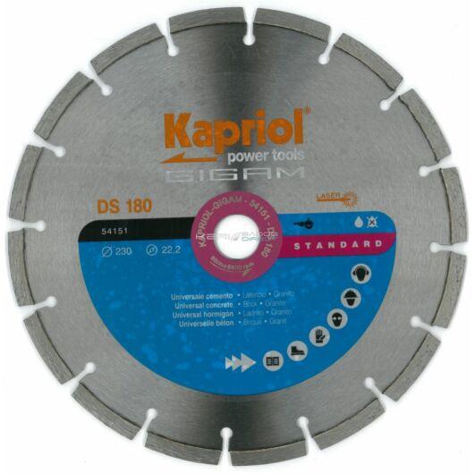 Kapriol gyémánt vágótárcsa 230x22,23 mm szegmentált