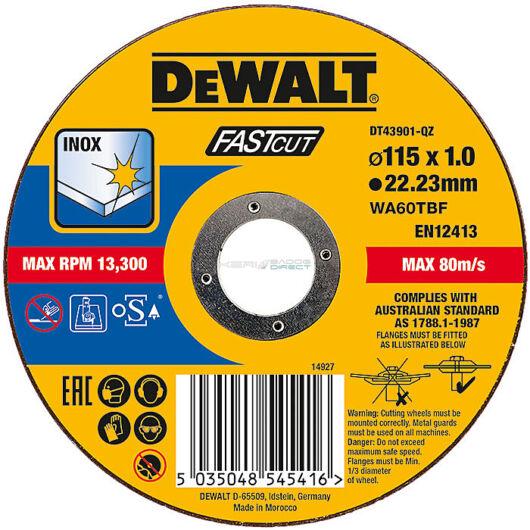 DeWALT 115x1, 0 Inoxvágó korong FASTCUT