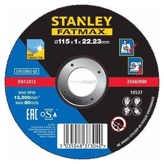 Stanley Fatmax inoxvágó tárcsa 115×1×22mm