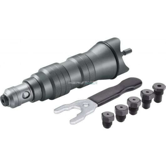 Fortum adapter klt. fúrógéphez, popszegecsekhez, 6 db, 2,4-3,2-4,0-4,8-6,0-6,4mm
