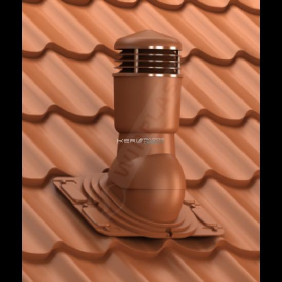 Gravitációs szigetelt szellőző UNI trapézlemez, cserepeslemez Ø110mm