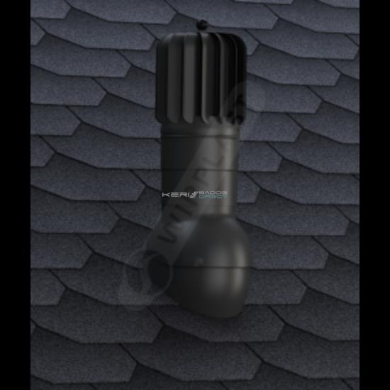 Légáramlásnövelő szellőző zsindely, pala, síkcserép fedéshez Ø150mm