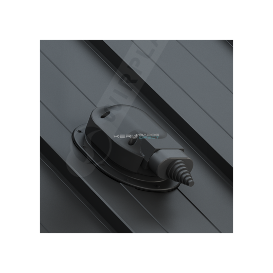 Napelem kábel átvezető síklemezfedés, Lindab Click rendszer Ø150mm