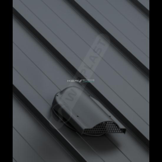 Gravitációs pontszellőző síklemezfedés Lindab Click rendszer Ø150mm