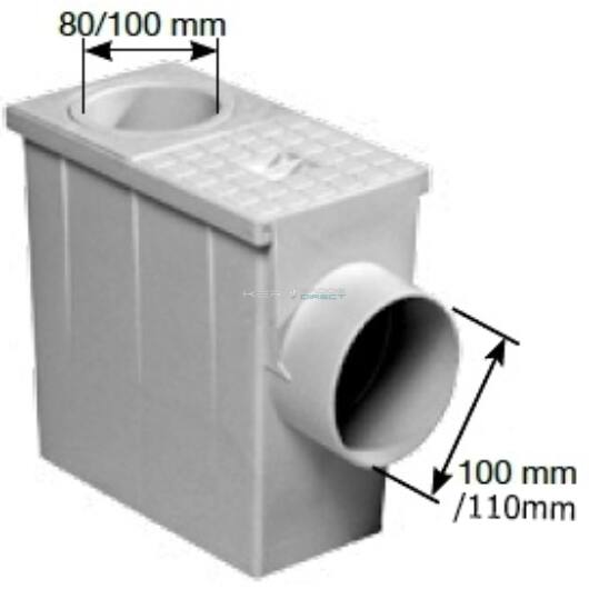 Kockás csapadékvízszűrő Ø90/110mm