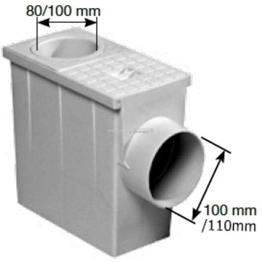 Kockás csapadékvízszűrő Ø80/100mm