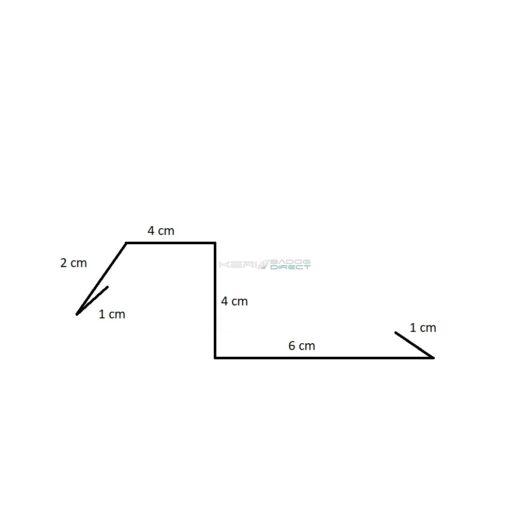 Színes acéllemez oromszegély 4 cm magas 2 m