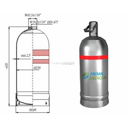 PB gázpalack 11,5 kg - üres