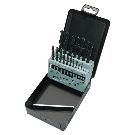 Milwaukee csigafúró készlet 19 részes, 1,0-10,0 mm HSS-R DIN 338 (fém dobozban)