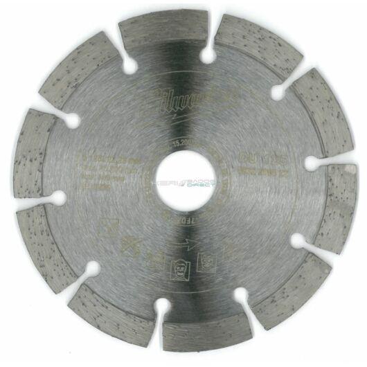 Milwaukee gyémánt vágótárcsa 125x22,23 mm szegmentált