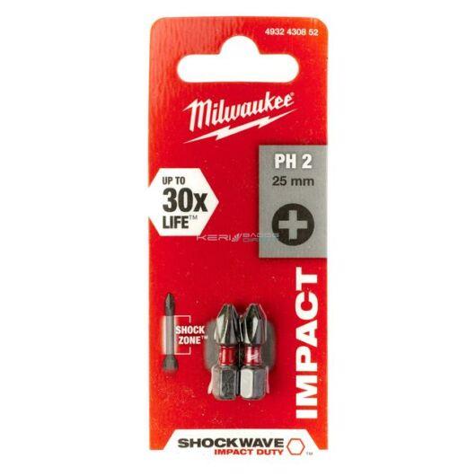 Milwaukee bithegy PH2 25 mm 1/4col (2 db)