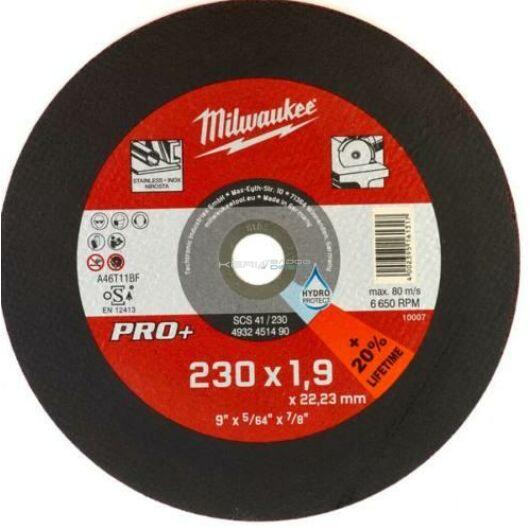 Milwaukee vágókorong fémre 230x1,9x22,2 inox egyenes SC41 PRO+